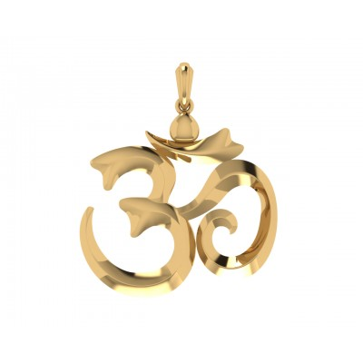 Stylish Om Gold Pendant