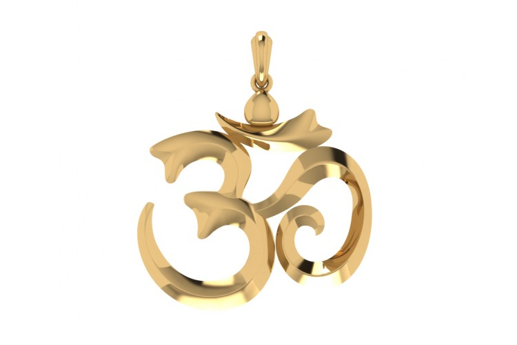 Om pendant shop om pendant online at the best price jewelslane stylish om gold pendant mozeypictures Image collections