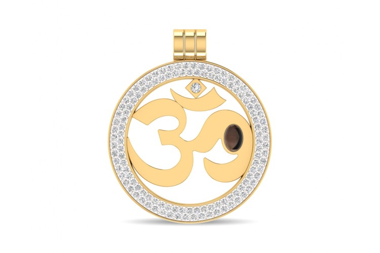 Om pendant shop om pendant online at the best price jewelslane om gold pendant with diamonds mozeypictures Image collections