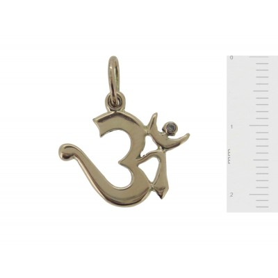 Om Pendant with Diamond