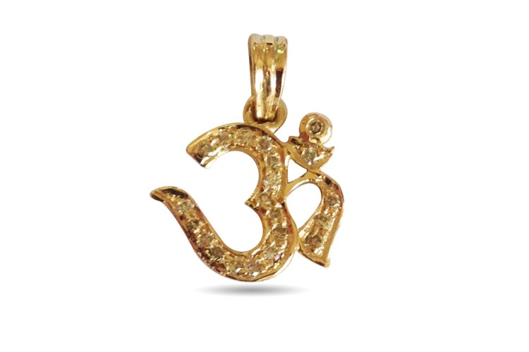 Buy delicate om diamond pendant online in india at best price delicate om diamond pendant mozeypictures Image collections