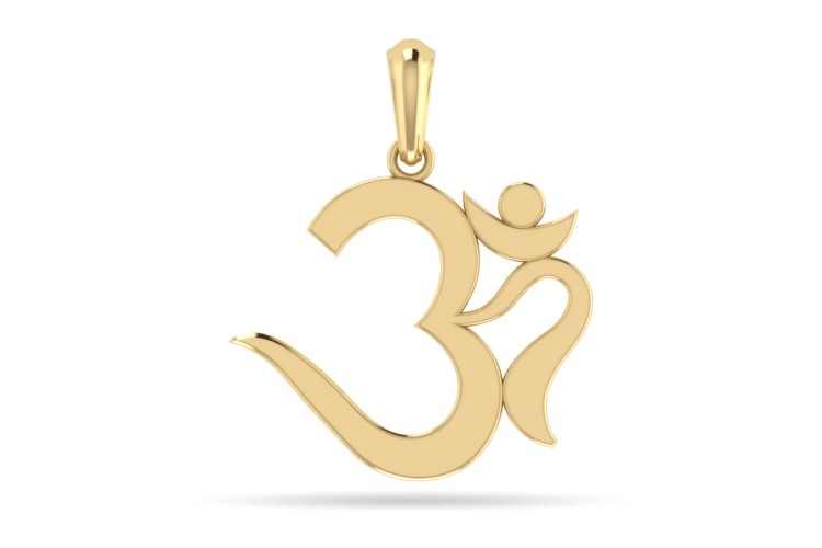 Buy elegant om gold pendant online in india at best price jewelslane elegant om gold pendant aloadofball Image collections