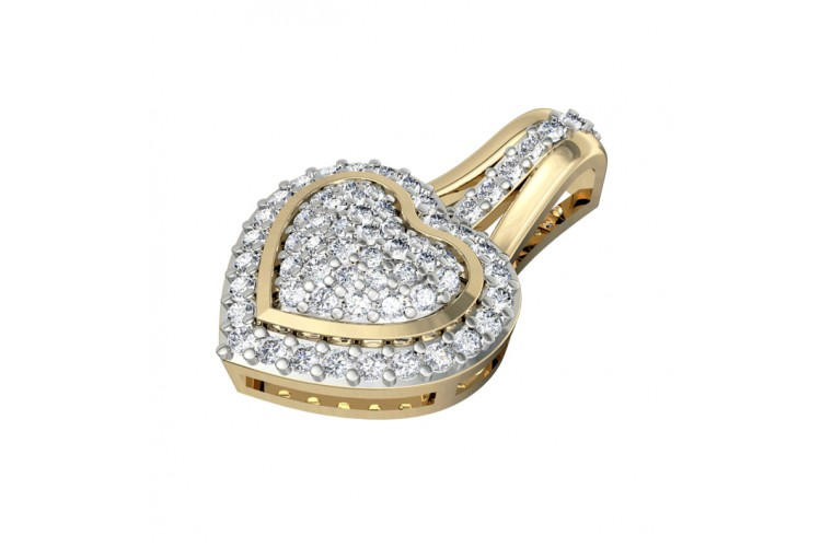 Adorable Heart Pendant with diamonds