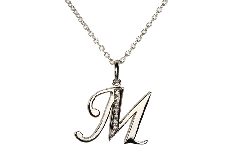 Buy alphabet m pendant with diamonds online in india at best price alphabet m pendant with diamonds aloadofball Image collections