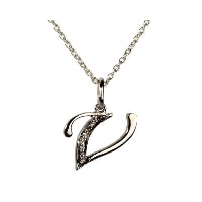 V Alphabet In Diamond Buy Alphabet V pendant with diamondsOnline in India at Best Price ...
