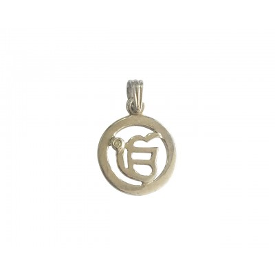 Ik Onkar Pendant in silver with diamond