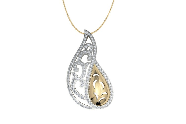 Buy contemporary two tone diamond pendant at best price online contemporary two tone diamond pendant mozeypictures Images