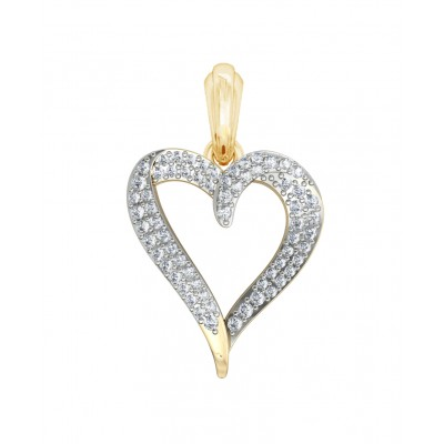 Delicate Diamond Heart Pendant
