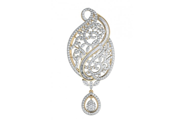 Fancy Diamond Pendant in Gold