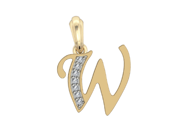 Buy Alphabet W Charm In Gold Online In India At Best Price