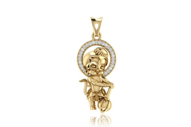 Buy adorable bal hanuman gold pendant online in india at best price adorable bal hanuman gold pendant aloadofball Images