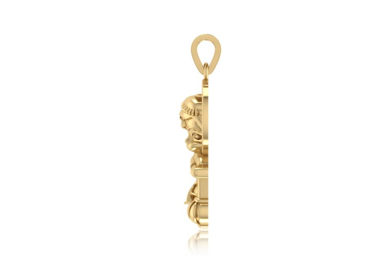 Adorable Bal Hanuman Gold Pendant