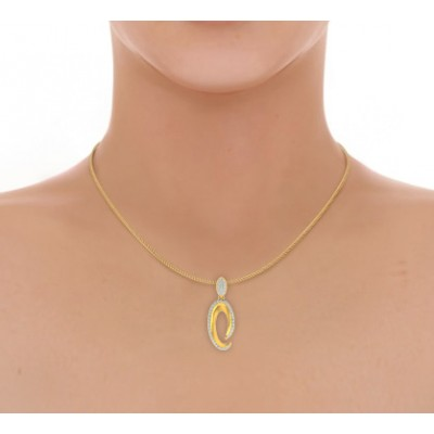 Eeva Diamond Pendant in Gold