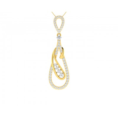 Rene Diamond Pendant in Gold