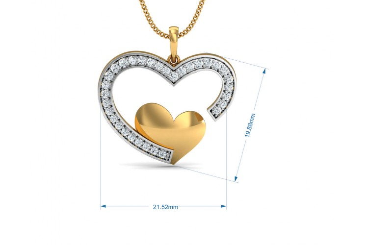 Fiona Diamond Heart  Pendant