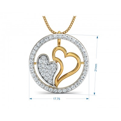 Samra Diamond Heart Pendant