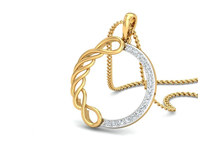 Irene Diamond Pendant in Gold