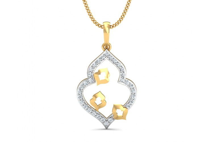 Ella Diamond Pendant in Gold