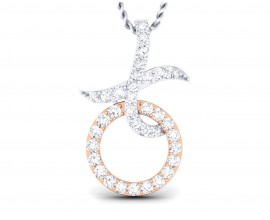 Lyn Diamond Pendant in two tone 18k gold