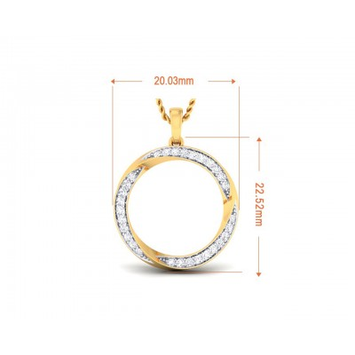 Genice Round Brilliant diamond Pendant in 18k gold