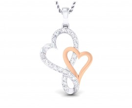 Sofy Mingling Hearts diamond pendant in 18k gold