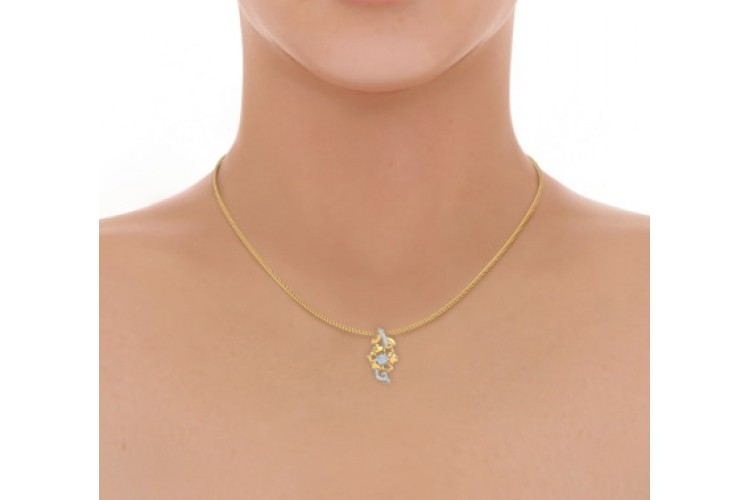 Flora Diamond Pendant in 14k gold