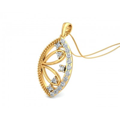 Tara Diamond Pendant In Gold