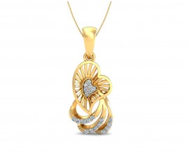 Urith Heart Pendant in Gold with diamonds