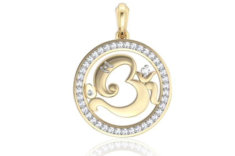 Buy aum ganesh gold pendant online in india at best price jewelslane aum ganesh gold pendant aloadofball Images