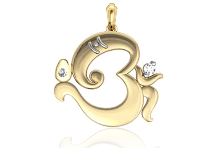 Buy Om Ganesh Gold Pendant Online In India At Best Price Jewelslane