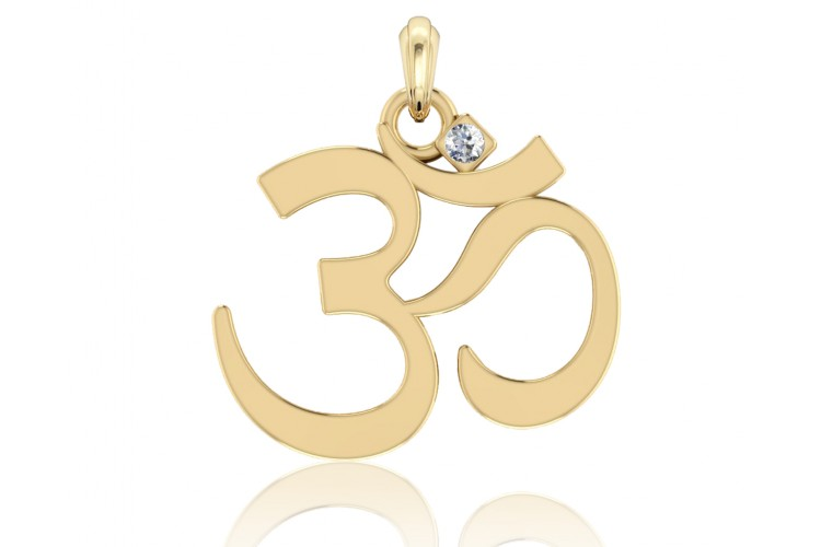 Buy gold om pendant online in india at best price jewelslane gold om pendant aloadofball Image collections