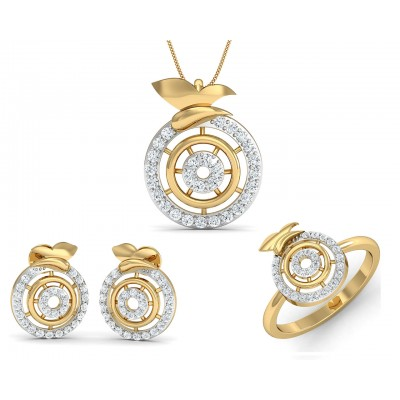 Aditri Daily Wear Diamond Pendant Set