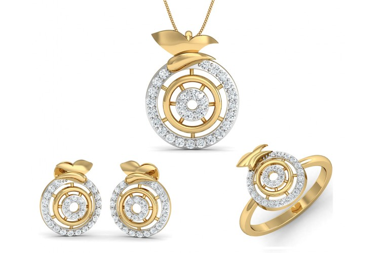 Buy aditri daily wear diamond pendant set endear jewellery aditri daily wear diamond pendant set aloadofball Image collections
