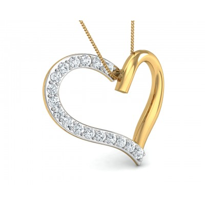 Amia Diamond Heart Pendant