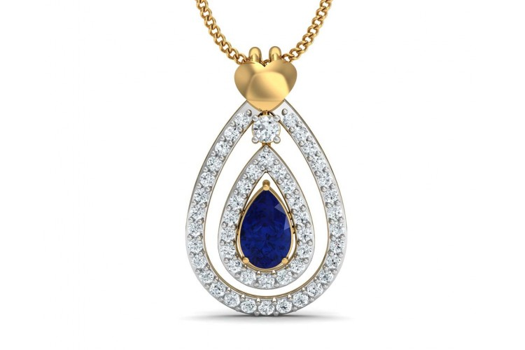 Buy anchita sapphire diamond pendant endear jewellery jewelslane anchita sapphire diamond pendant aloadofball Image collections