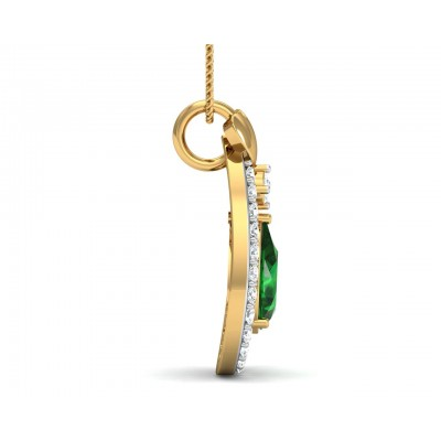 Ameena Emerald Diamond Pendant
