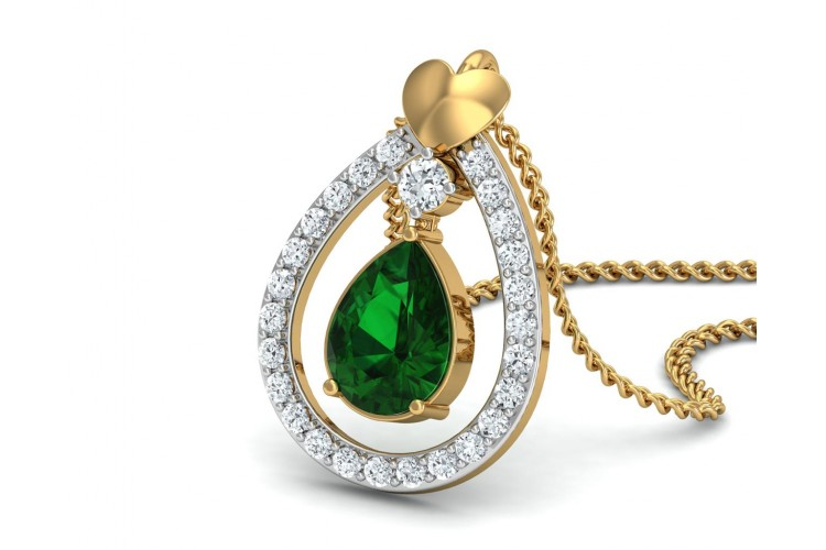 pendant zoom emerald products oro necklace b yg vrai n diamond vo