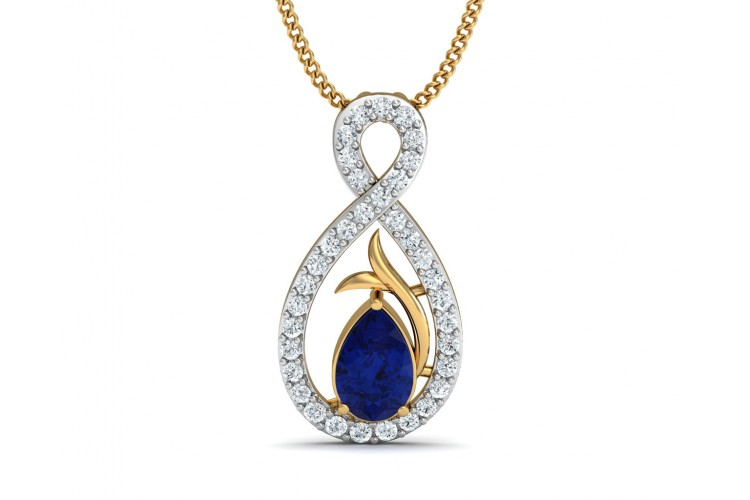 Buy tarini blue sapphire diamond pendant endear jewellery tarini blue sapphire diamond pendant aloadofball Image collections