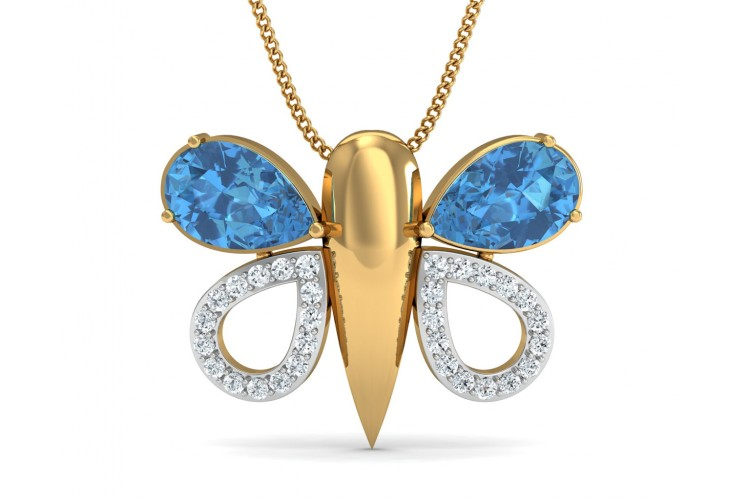 Asmara Blue Topaz & Diamond Pendant