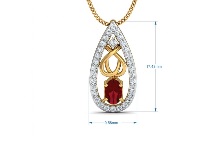 Ishani Ruby Diamond Pendant