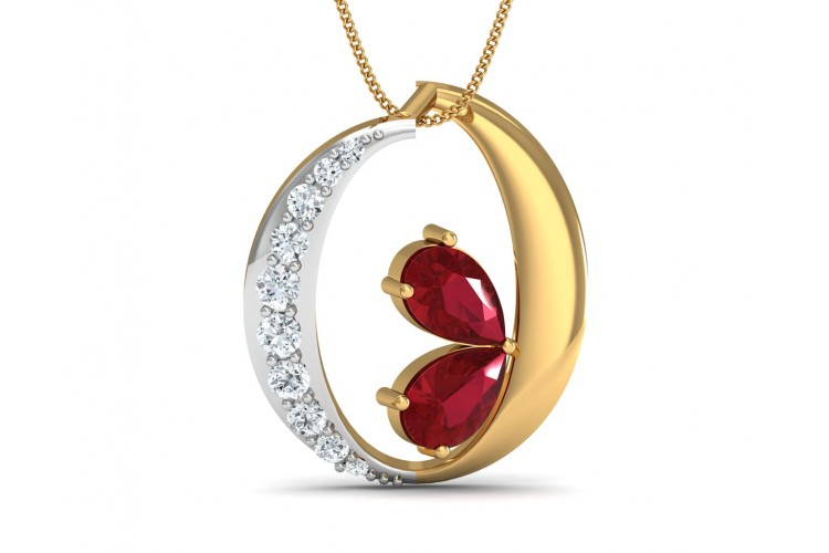 Chiti Ruby Diamond Pendant