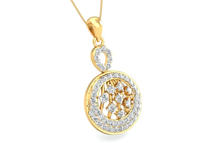 Dea Round Brilliant Cut Diamond Pendant