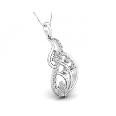 Deena Round Brilliant Cut Diamond Pendant