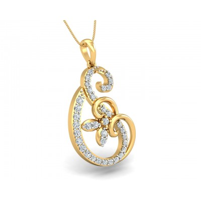 Freya Round Brilliant Diamond Pendant