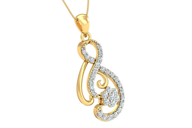 Deiva Round Brilliant Diamond Pendant