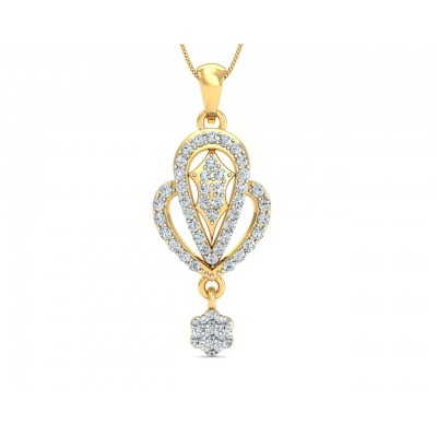 Penne Diamond Pendant in Gold