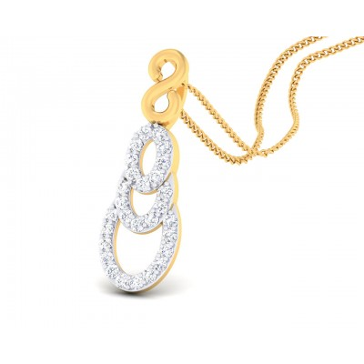 Afina Diamond Pendant in Gold