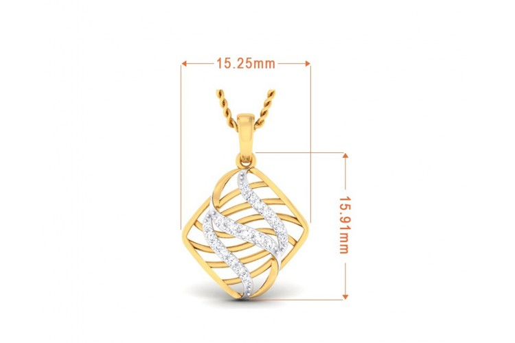 Adana Contemporary Diamond Pendant