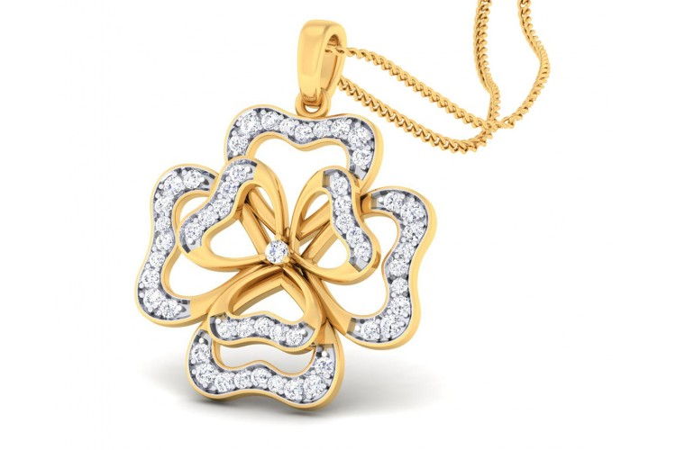 Afnan Flower Diamond Pendant