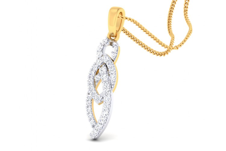 Feni Diamond Pendant in Gold